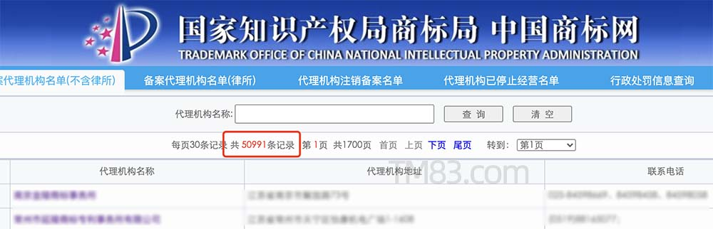 吉林省商标代理注册机构名单(一)